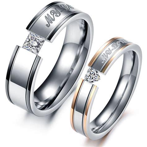 aliexpress rings fashion heart aaa cubic zirconia rhinestone steel couple