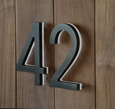 Luxello Modern Bronze House Numbers Illuminated Surrounding Com
