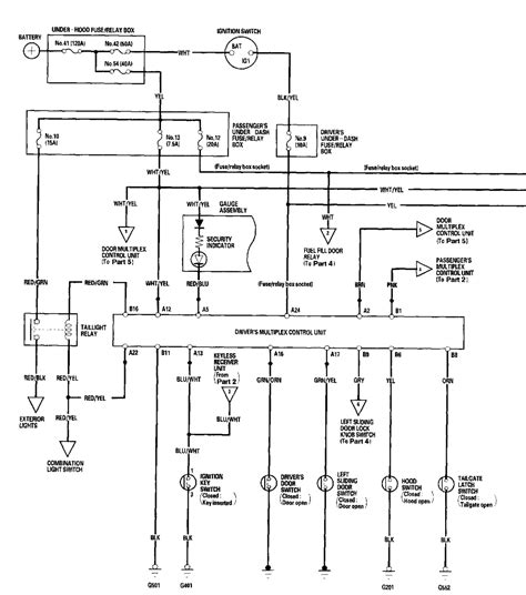 honda alarm wiring diagram 28 images factory security