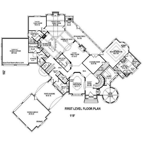 porte cochere plans french country house plans with porte cochere floor plan