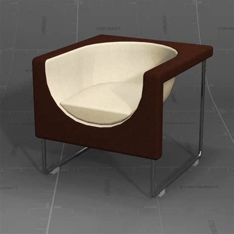 Nube Armchair Set 3d Model Formfonts 3d Models Textures