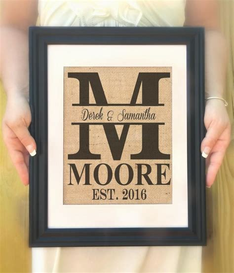 personalized last name gift personalized wedding gift
