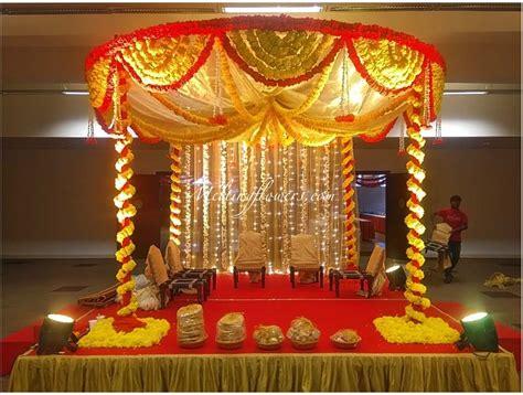 Indian Home Decoration Mandap Decorations Wedding Mandap Mandap Flower