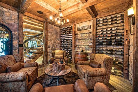 home wine cellar log home wine cellars