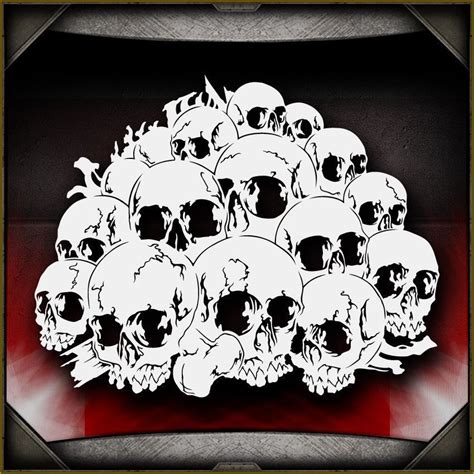 skull background 11 airbrush stencil template airsick
