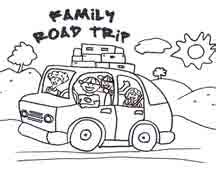 Road Trip Coloring Pages family road trip printables tips activities