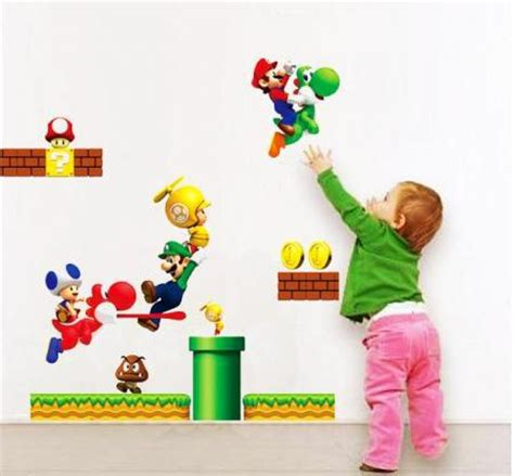 super mario home decor cartoon wall sticker super mario bros yoshi removable