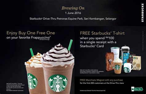 Starbucks Buy 1 FREE 1 On Your Favorite Frappuccino Blended Beverage Promotion!