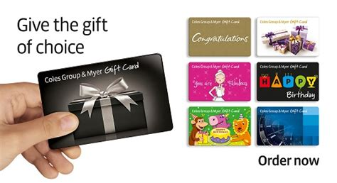 Myer Gift Cards - coles group myer gift cards