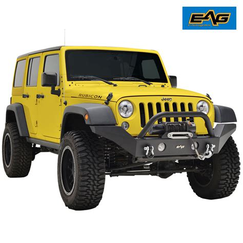 D Rings For Jeep 07 17 Jeep Wrangler Jk Width Black Front Bumper With
