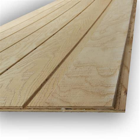 panel siding for houses shop natural wood plywood untreated wood siding panel common 0 594 in x 48 in x 108