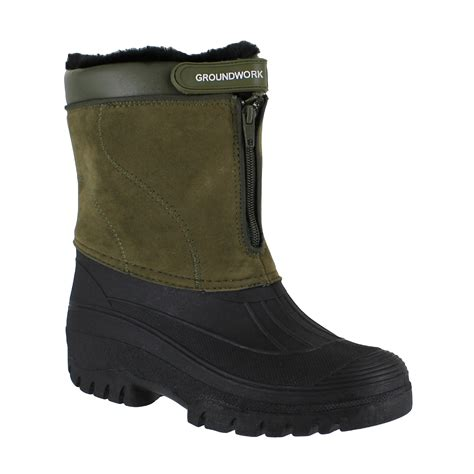 mens stable boots groundwork ls88 mens khaki mucker stable yard winter snow
