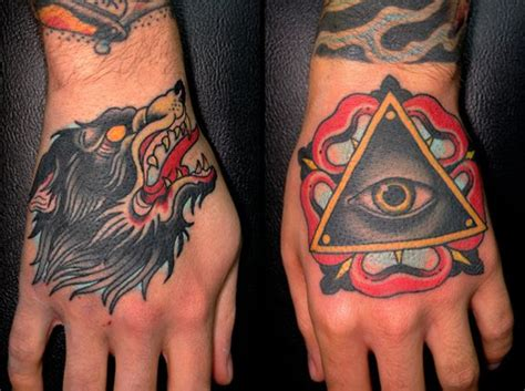 traditional tattoo hand eye luis dubuc the secret handshake traditional wolf tattoo