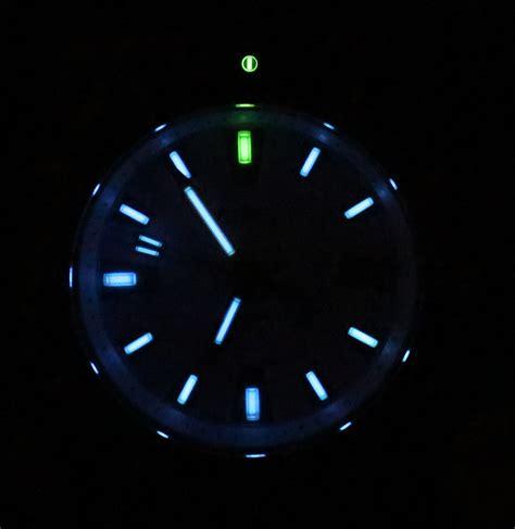 Cool Clock Faces nite aqua tritium dive watch review ablogtowatch