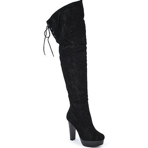 Wilona Black de blossom wilona 3 black platform high heel boot
