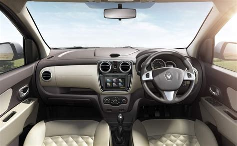 renault lodgy interior renault lodgy with 16 enhancements launched at inr 9