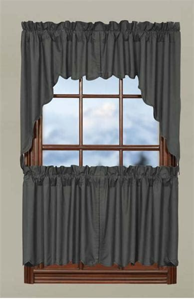 24 x 36 curtains gunmetal solid scalloped curtain tiers 36 quot w x 24 quot l