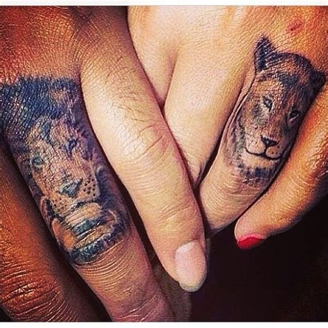 lion finger tattoo 17 best ideas about finger tattoos on