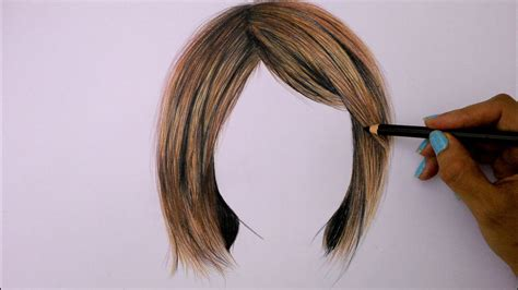 colored pencil hair how to draw hair using colored pencils