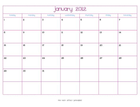 Templates Free 2012 by Write In January Calendar New Calendar Template Site