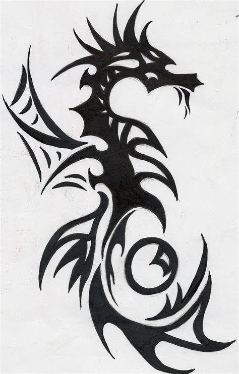 tribal seahorse or sea serpent by weirdiswelcome on deviantart