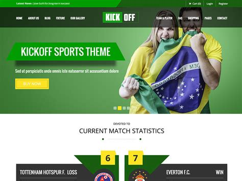 themes wordpress free sport 20 best sports wordpress themes 2017