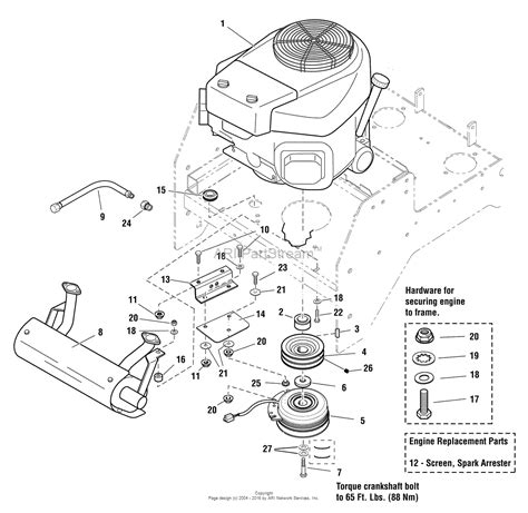 simplicity  citation hp kawasaki  turn rider   mower parts diagram