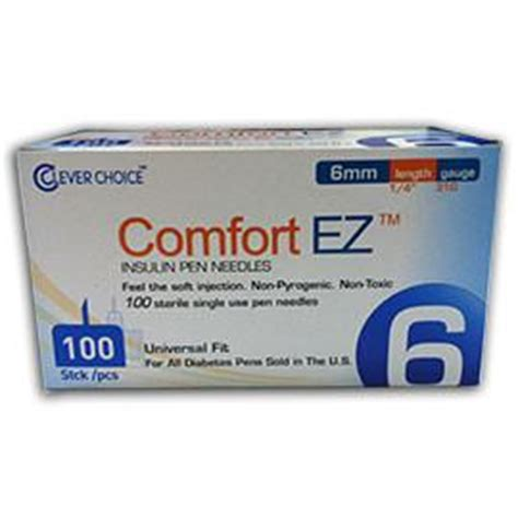 accurate comfort services comfort ez pen needles 31g 6mm 1 4 quot bx 100 diabetes
