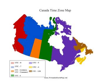 map of canada and us time zones canada time zone map