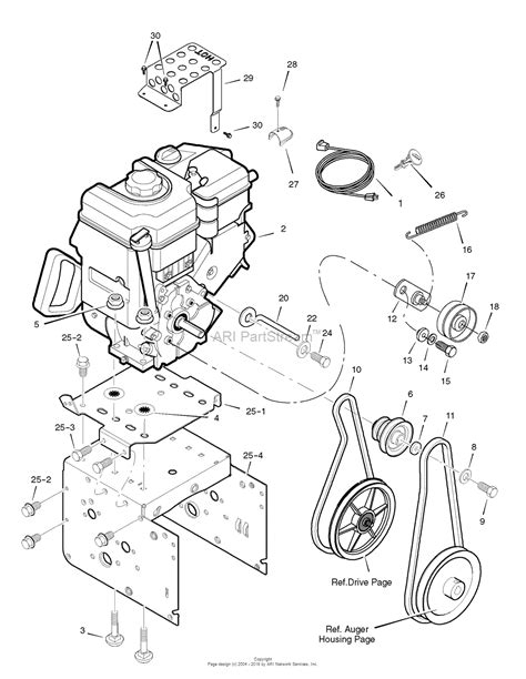 murray snowblower parts diagram murray 1695539 murray 24 quot dual stage snowthrower 2008