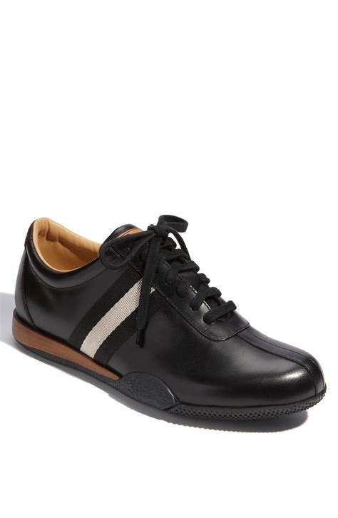 leather mens sneakers bally freenew leather sneaker in black for lyst