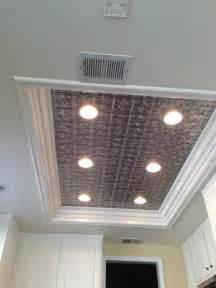 kitchen ceiling lights on