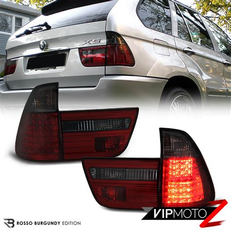 bmw x5 tail light removal bmw e53 x5 00 06 led tail lights l red smoke rear