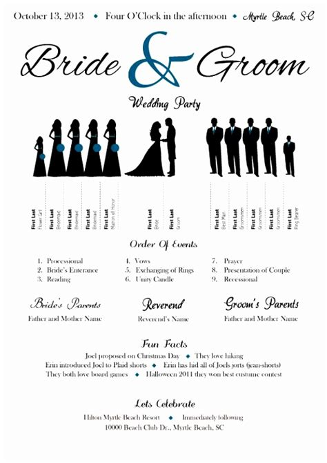 Wedding Line Up Template Wedding Ideas Wedding Lineup Template