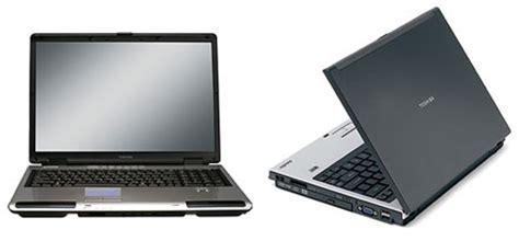 toshiba updates satellite p105 u205 laptops for vista