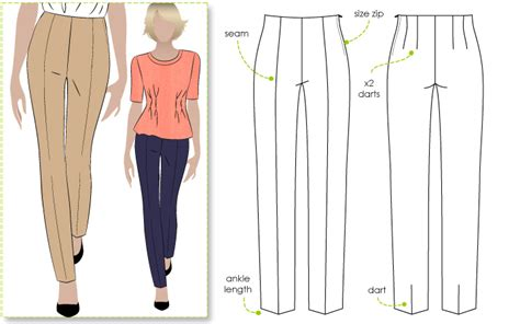 jeans pattern design stylearc claudia stretch woven pant
