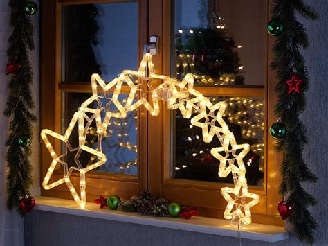 Weihnachtsdeko Fenster Mit Beleuchtung by Lunartec Led Fensterdeko Weihnachtsdeko Quot Kometenschweif