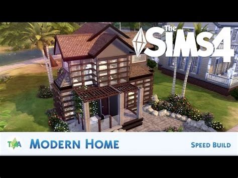 the sims house building modern abode speed build youtube idolza the sims 4 modern home 1 speed build youtube