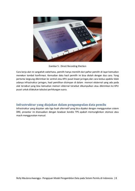 Saklar On Dua Mode Switch On Lu Dua Mode pengajuan model pengambilan data pada sistem pemilu di indonesia
