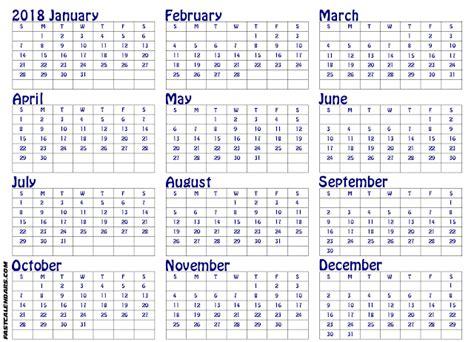printable calendar year view printable calendar 2018 year to view blank printable 2018