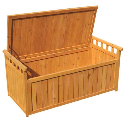wooden storage bench outdoor greenfingers 2 seater storage bench on sale fast