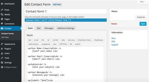 Contact Form 7 Wordpress Plugin Wordpress Org Contact Form 7 Templates