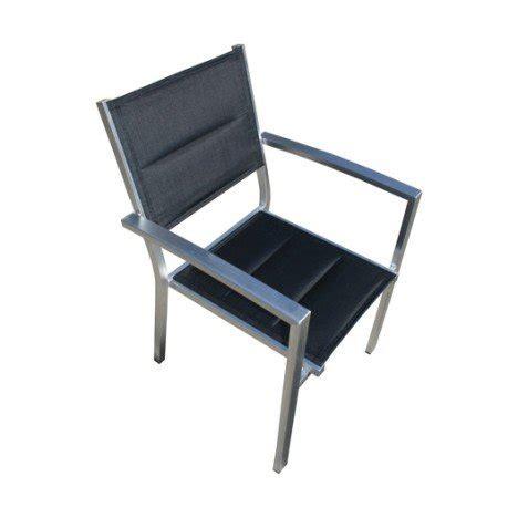 fauteuil de jardin en aluminium pacific structure argent