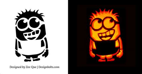10 best free minion pumpkin carving stencils patterns