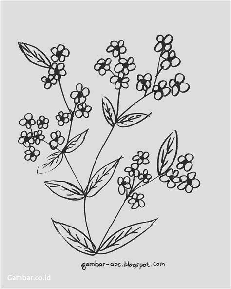 contoh gambar bunga  mudah digambar