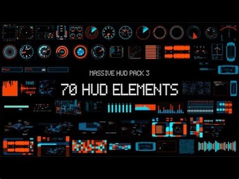 Massive Hud Pack 3 After Effects Template Youtube Hud After Effects Template