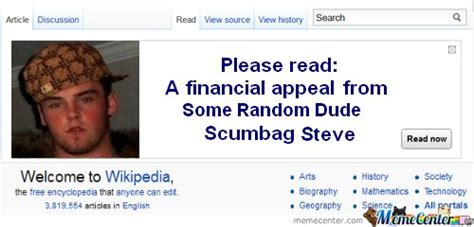 wikipedia appeal from scumbag steve by friaza meme center