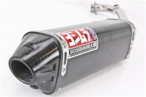 Knalpot Yoshimura Usa Carbon Series yoshimura trc race series exhaust system carbon fiber with carbon fiber end cap