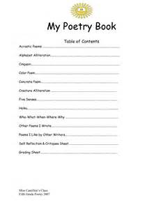 poetry booklet template 7 best images of poetry templates printable blank