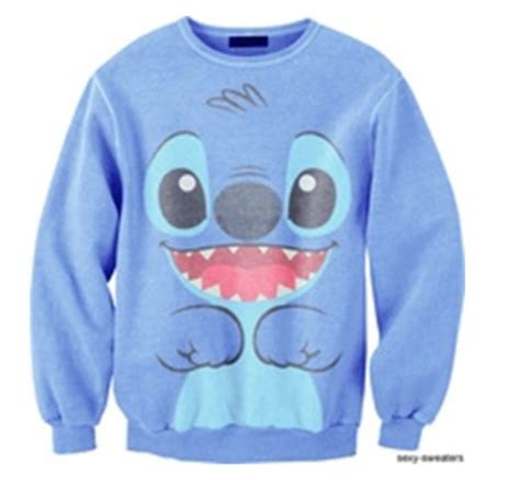 Sweater Stitch sweater lilo stitch sweatshirt hoodie lilo and stitch disney swimwear shirt blue